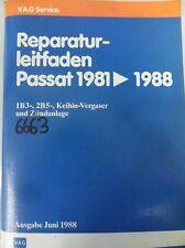 Werkstattbuch Reparaturleitfaden VW Passat Keihin- Vergaser- Zünadanlage #6663