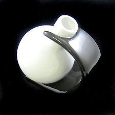1 Pc - 18CM Black Ceramic Vase Wedding Gift Decor Flowers House Centrepiece (J)