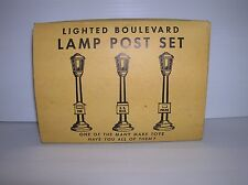 """Marx """"Boulevard Lamp Set # 073/3 plus one extra boxed and working lot # 10799"""