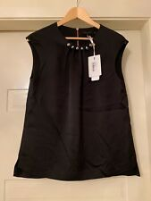 094a1d6b451817 Ted Baker London   Camble  Folded Gunmetal Bead Neck Top Size 3 ...