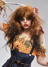 Womens Halloween Zombie Scarecrow Wig