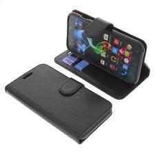 Tasche für Archos 50c Platinum Smartphone BookStyle Schutzhülle Buch Schwarz