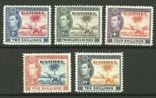 GAMBIA - 1938 KGVI issues 2/- to 10/- *MINT HINGED* (CV £150)