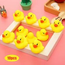 10pcs Yellow Bathtime Squeaky Rubber Ducks Toddler Baby Kids Bath Water Play Toy