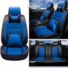 Car Seat Covers Deluxe PU Leather Front&Rear Full Set Universal for 5-Seats Cars