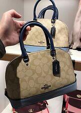 NWT Coach Colorblock LGO Mini Sierra Satchel Handbag F57493 - Khaki/ Blue Multi