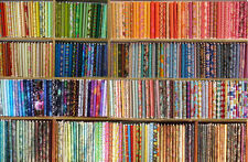 Lot of 10 yards of Quilt Fabric - No Duplicates - 100% Cotton