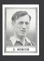BARRATT - FAMOUS FOOTBALLERS (NEW SERIES) - #28 J MERCER, ARSENAL