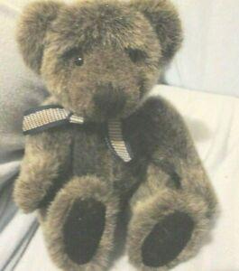 "PLUSH TEDDY BEAR WINSLOW GRAY RUSS BEANBAG 6"" Grey"