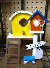 New ListingWooden outdoor bird houses