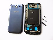 For Samsung i9300 Galaxy S3 S III Blue Full Housing Cover Case Unit Set  ( Blue)
