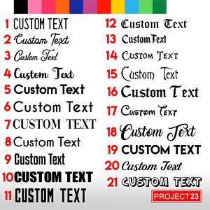 CUSTOM TEXT 30CM Personalised Name Lettering Car/Van/Window/Shop Decal Sticker