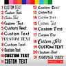 CUSTOM TEXT Personalised Name Lettering Funny Car/Van/Window/Shop Decal Sticker