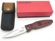 MCUSTA SEKI JAPAN LEYASU MC-183 RED SHOGUN VG-10 FOLDER FOLDING HUNTER KNIFE