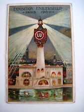 """Rare Stunning 1900 """"Lefevre-Utile Biscuits"""" Trade Card """"Exposition Universell""""*"""