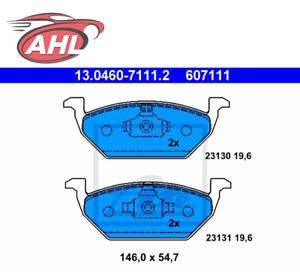 ATE 13.0460-7111.2 Plaquettes de frein pour AUDI SEAT SKODA VW