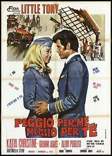 PEGGIO PER ME MEGLIO PER TE MANIFESTO FILM MUSICALE LITTLE TONY MOVIE POSTER 2F