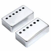 2x Humbucker Neck & Bridge Guitar Pickup Covers Chrome High Quality B9N8) TP