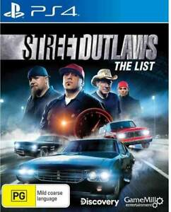 Street Outlaws The List PS4 LIKE NEW FREE POST + TRACKING !