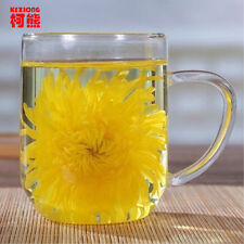 Gold Huang Ju 4 pieces chrysanthemum a large cup of organic herbal tea in summer