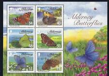 ALDERNEY 2008 ALDERNEY BUTTERFLIES MINIATURE SHEET MOUNTED MINT,