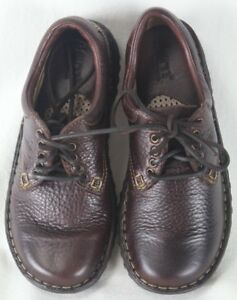 Born Ravine French Roast Brown Leather Lace Up Shoes M/W NIB