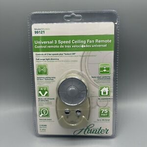 Hunter 99121 Silver 3 Speed Universal Remote Control For Fan & Lights