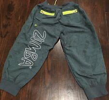 Zumba Wear Cargo Dance Capris Pants Women's Size S Gray Lime Green HH8529