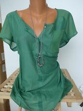Sheego Shirt Tunika Gr 627 NEU 44//46 Kurzarm dunkelgrau Ton mit Aufdruck