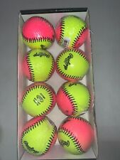 """(4) New Rawlings 10"""" Soft Indoor / Outdoor Training Softballs Pink Yellow Protac"""