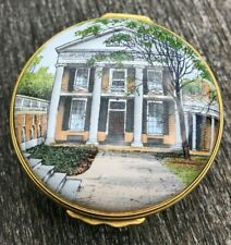 Rare Halcyon Days Enamel Box University of Virginia Lawn Society Pavilion Ii