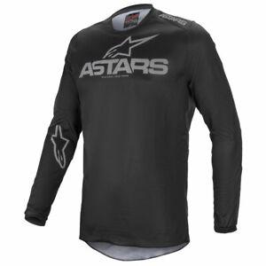 2021 ALPINESTARS FLUID MOTOCROSS MX BIKE JERSEY - GRAPHITE BLACK / GREY