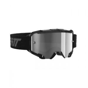 Leatt Adults Velocity 4.5 Motocross Enduro Goggles - Black with Light Grey Lens