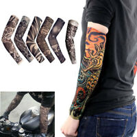 6 PACK Tattoos Cooling Arm Sleeves Cover Sport Basketball Golf UV Sun Protection