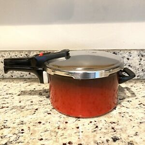 Silit Sicomatic Red Pressure Cooker Pot With Lid 5 Quarts