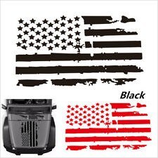 20''x35'' Car Vinyl Decal Stickers USA Flag Style Graphics For Truck Police Jeep