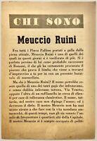"""RSI """"CHI SONO? MEUCCIO RUINI"""" libro di propaganda Rep. Sociale Italiana 1944"""