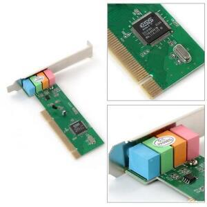 5.1 Surround 3D PCI Sound PC Audio Card MIDI Port for Windows XP/7/8 4 Channel✅