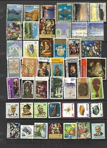 45 all different used stamps from New Zealand