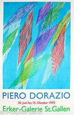 DORAZIO PIERO AFFICHE TIRÉE EN LITHOGRAPHIE 1990 LITHOGRAPHIC POSTER