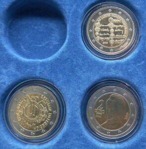 LOT 3 PIECES 2 EURO COMMEMORATIVE AUTRICHE OSTERREICH 2005 2010 2012