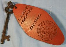 Vintage Leather Key Fob C.W. Patton Productions Silent Film Producer Hollywood