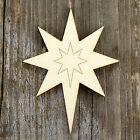 10x Wooden Christmas Nativity Star Craft Shapes 3mm Plywood Xmas Decoration