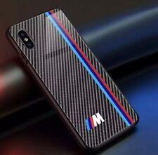 BMW M SPORT Badge iPhone X XR coque téléphone-verre trempé fibre de carbone conception