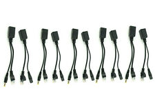 5x MD Power Over Ethernet Passive PoE Adapter Injector Splitter Kit PoE Cable