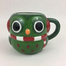 New listing Christmas Holiday Owl w/ Scarf & Earmuffs ceramic Coffee Mug cute baby owlette