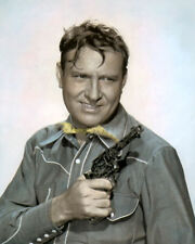 "GENE AUTREY COUNTRY WESTERN ACTOR SINGER 8x10"" HAND COLOR TINTED PHOTOGRAPH"