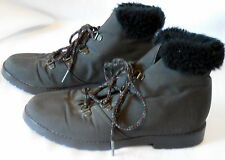 Womens TENDER TOOTSIES size 6 winter snow WARMERS ANKLE BOOT fur lined w39