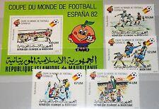 MAURITANIA MAURETANIEN 1980 691-95 I Block 29 Soccer World Cup 1982 Fußball MNH