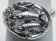 LOOK Silver PISCES Zodiac Astrology sign Horoscope Fish ring